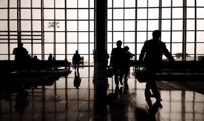 Business Travelers at Airport