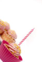 Cupcake Muffin mit Kerze