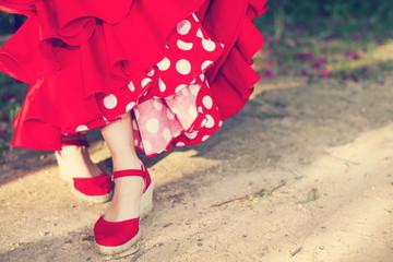 Flamenco dance contest and sevillanas