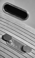 Italy, Fiumicino (Rome), luxury yacht, bow steel bollard