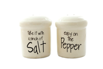 Salt and Pepper Shaker on Isolated White