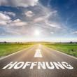 Straße mit Hoffnung