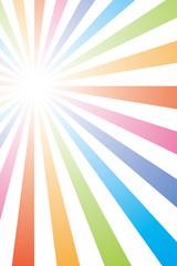虹色の壁紙(放射状)