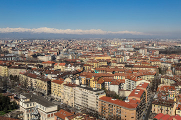 Turin Cityscape from Mole Antonelliana