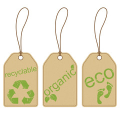 Eco friendly carton tags with grunge effect