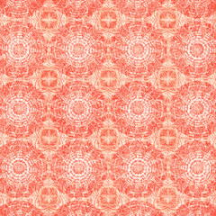 Fond Abstrait Forme Mandalas Orange