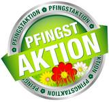 """Button Banner """"Pfingstaktion"""" grün/rot/silber"""