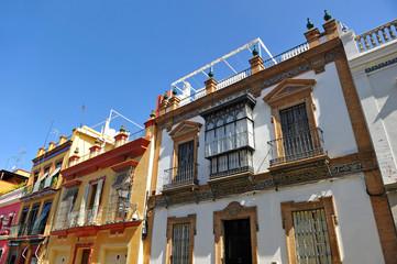 Calle Pureza, barrio de Triana, Sevilla, Andalucía, España