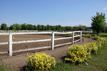 ranch with corral for horses