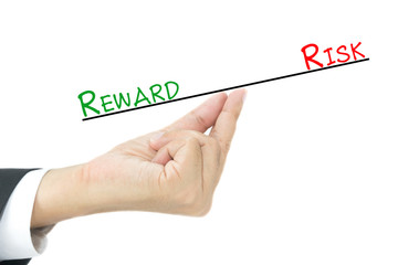Comparison between reward and risk