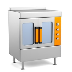 realistic 3d render of profi kitchen element