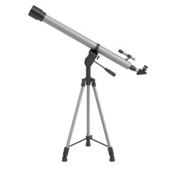 realistic 3d render of telescope