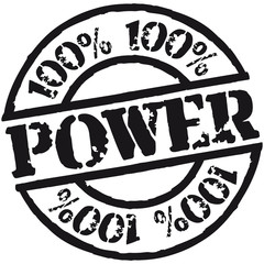 100 % Power Stempel Design