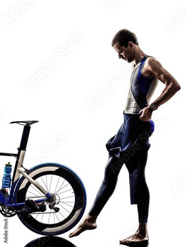 man triathlon iron man athlete equipment