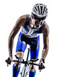 man triathlon iron man athlete cyclists bicycling - 64570247