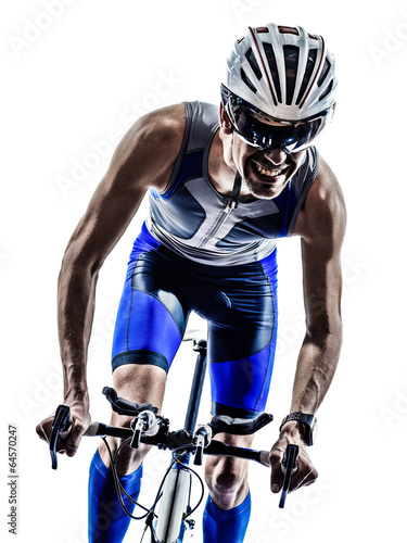 man triathlon iron man athlete cyclists bicycling