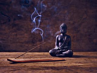 Räucherstäbchen Buddha Holz