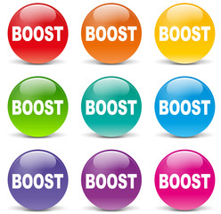Vector boost icons