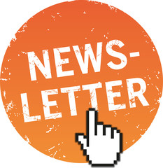 Button Newsletter mit Maushand
