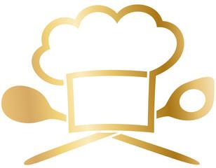 Küche - goldene Kochsymbole
