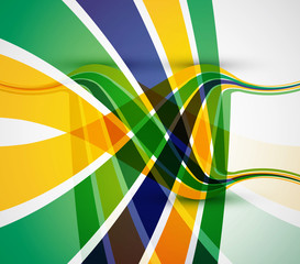 Brazil flag concept colorful stylish business wave vector illust