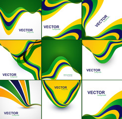 Brazil flag concept beautiful collection creative business wave
