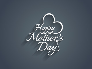 Beautiful mother's day text design.