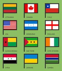 Flags flat set-01