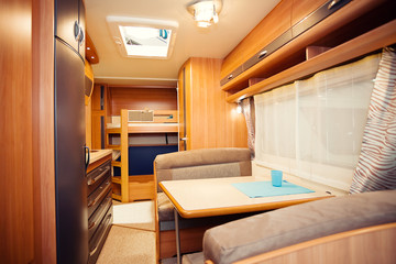 Interior of Modern Camper
