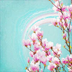 Shabby Chic Background with magnolia