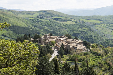 Dorf Collepino bei Assisi