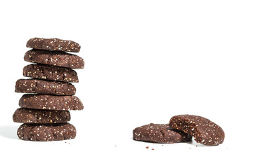 Healthy dark chocolate and chia seed cookies