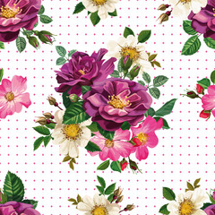 seamless pattern, bouquet of flowers