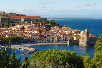 Collioure coastal village in France