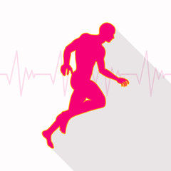 Vector Illustration of a Fitness Background