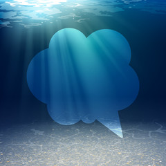 Vector Illustration of an Underwater Background