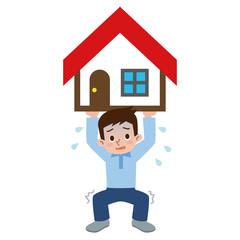 家を支える男性