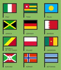 Flags flat set-06