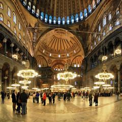 Interior of the Hagia Sophia in Istanbul