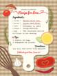 Recipe for Love creative Wedding Invitation - 64576660