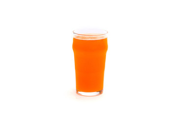 Glass of beer isolated on a white background