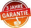 3 Jahre Garantie Button orange