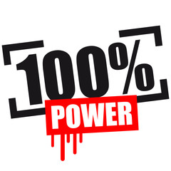 100 % Power Stempel