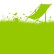 Summer Meadow Canvas Chair Green