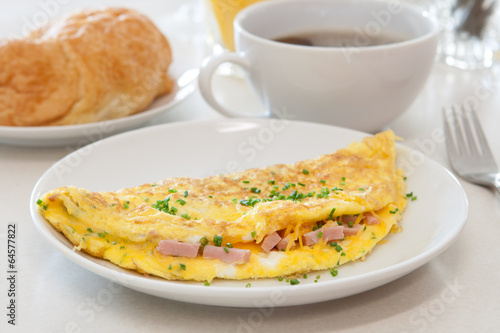 Foto op Canvas Egg Ham and Cheese Omelet