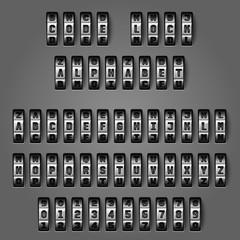 Mechanical alphabet for combination codes