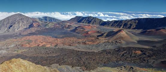 Caldera of the Haleakala volcano  Maui, Hawaii