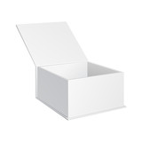 White Product Gift Cardboard, Carton Package Box Open