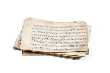 Sheet music isolated on white.