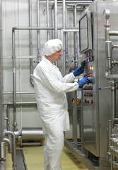 biotechnology specialist controlling industrial process